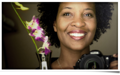 The beautiful Karen Walrond. A self-portrait.